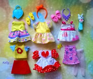 🌞🌞🌞Lot of Barbie Kelly doll clothes, accessories plus shoes🍇🍇🍇