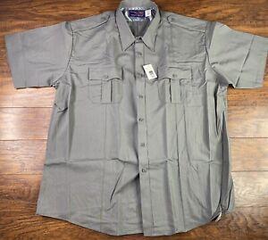 Men's HORACE DEPUTY Short Sleeve Uniform Shirt Size 3XL 19-19.5 Gray G1