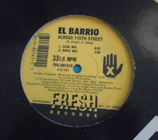 "EL BARRIO ~ Across 110th Street ~ 12"" Single USA PRESS"