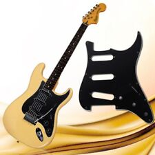 Stratocaster Guitar 3-Ply PVC Pickguard Scratch Plate For ST Strat SSS Black YG