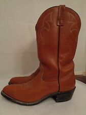 RED WING Pecos western cowboy boots men's size 10,5 B rich brown 100% leather