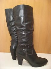 MATISSE Tall Knee High Brown Leather Western Style Riding Boots - Size 11