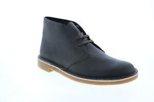 Clarks Bushacre 3 26153530 Mens Gray Wide Leather Lace Up Chukkas Boots