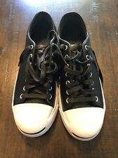 vintage converse jack purcell modern leather shoes. Men's 8 women's 9.5
