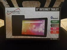 "Supersonic 9"" Tablet Android Quad Core 8GB Storage & Bluetooth SC-4009DL"