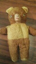 Vintage Plush,Teddy Bear,Google Eyes, Rubber Face Stuffed .