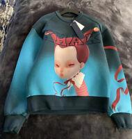 Authentic juun j Hooded Sweater Shirt Green Dolls Sz46