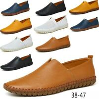 Men's Casual Loafers Breatheble Anti-skid Genuine Leather Slip On Driving Shoes