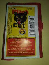 "Black Cat Fireworks Wrapper Label only Firecracker 1 1/2"" 16 cnt no firecrackers"