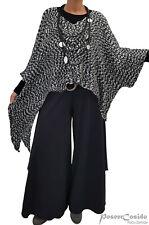 LAGENLOOK Strick Zipfel Pullover Pulli Überwurf XL-XXL-XXXL 46 48 50 52 54 56 58
