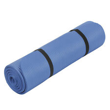 Gymnastikmatte Yogamatte 190x60x1 cm Blau Sportmatte Fitnessmatte Pilates Matte