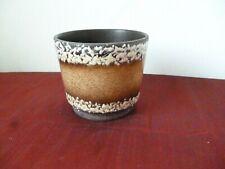 Vintage West German Art Pottery Plant Pot Planter Keramik Fat Lava 806-14