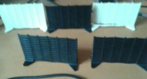 Scalextric black and white whicker fence panels as used on Goodwood Chicane