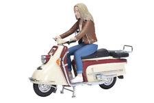 SCHUCO HEINKEL Tourist Marrone-rosso/beige con fahrerin 1:10 450654400