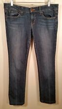 Womens Straight Leg Jeans GAP Low Rise size 8 blue denim 32 x 28