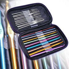 22pcs Stainless Steel Knit Knitting Needles Weave Weaving Needle Crochet Hooks