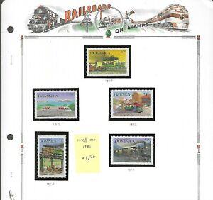 RAILROADS (D)...Dominica...#1040//1047...Mint NH...1987...SCV $6.70