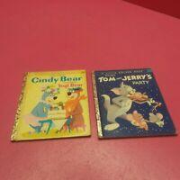 A LITTLE GOLDEN BOOK TOM & JERRY'S PARTY & CINDY BEAR FEATURING YOGI BEAR (G14)