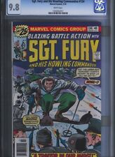 Sgt Fury # 134 CGC 9.8  White Pages. UnRestored