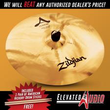 "Zildjian A Custom 17"" Fast Crash Cymbal + FREE American Hickory Drum Sticks!"