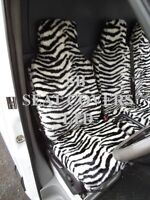 TO FIT A VW LT28 VAN, SEAT COVERS, 2004 SPEC, ZEBRA FAUX FUR, S + D