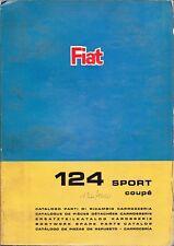 CATALOGO PARTI DI RICAMBIO FIAT 124 SPORT COUPE  1° Edizione VI/ 1967