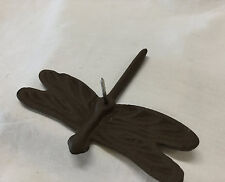 New listing Dragonfly Nail Cast Iron Rustic Brown Wall or Garden