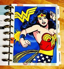 Wonder Woman Super Heroe Two-Sided Dashboard for use with Happy Planner