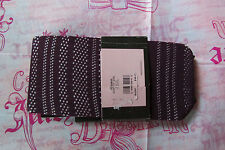 Juicy Couture Tights Footless Party Girl Striped Fishnet M L Purple NEW