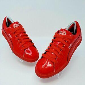 Puma Mens Basket Matte & Shine Red/Silver Shoes Size US 6.5 EUR 38.5 358892-10