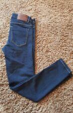 """Womens Zara Denim By TRF Skinny Jeans Size 2 Dark Wash Cropped 26"""" Inseam, EUC"""