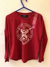POLO BY RALPH LAUREN 5 YEARS GIRL'S RED GRAPHIC TOP  SUMMER BEACH BIRTHDAY  BNWT