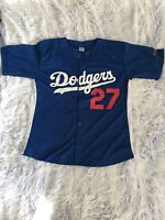 Dodgers Matt Kemp 27 Blue & White Jersey Size - Large