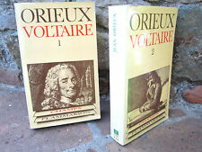 Voltaire ou la royauté de l'esprit, Jean Orieux, éd. 1977, 2 vol., biographie