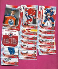 2016 HOCKEY CARD DAY COMPLETE 16 CARD SET NRMT-MT  (INV# C0823)