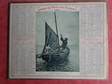 1892 CALENDRIER DES POSTES ALMANACH LANDES PECHE BRETAGNE CONCARNEAU MER