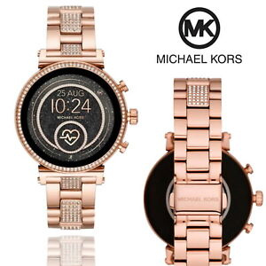 Michael Kors Access Sofie Smart Watch Heart Rate Touch Fitness Tracker Rose Gold