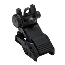NcStar Pro Series low profile spring loaded Flip-Up Rear Sight w/A2 Aperture