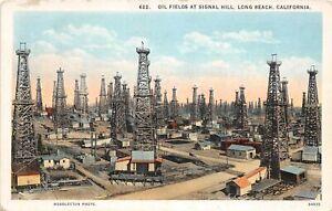 H65/ Long Beach California Postcard c1920s Oil Fields Signal Hill Derricks  36