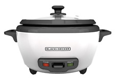 BLACK+DECKER RC506 6-Cup Cooked/3-Cup Uncooked Rice Cooker and Food Steamer new