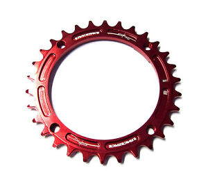Race Face Narrow Wide Single Chainring - 104mm - Red