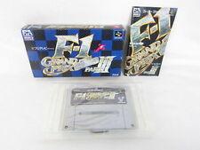 F1 GRAND PRIX III 3 Item Ref/bcb Super Famicom Nintendo Japan Boxed sf
