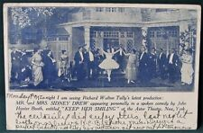 """Astor Theater New York  """"Keep Her Smiling""""  1918 Broadway Play Postcard"""