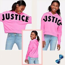 Justice Girls Size 18-20 Justice LOGO Hoodie New with Tag