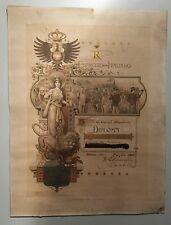 Scherma, Regio Esercito Italiano Diploma medaglia Oro tiro moschetto, anno 1900