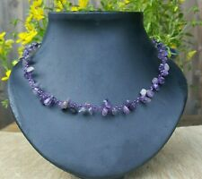 *Freedom Tree*  Amethyst Gemstone Necklace Hand Woven Chakra /Healing