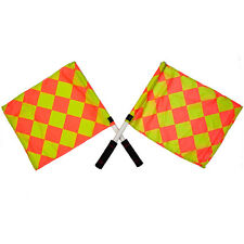Sportsgearus Official Diamond Referee Linesman Soccer Flags Pair