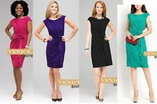 Knee Length Polyester Work Sheath Dresses for Women