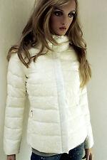 MARCCAIN Damen Jacke Winter Daunen SEIDENSPITZE N1 34 36 XS Creme