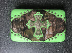 Realtree Wallet Camouflage With Rhinestone Cross and Silver Studs